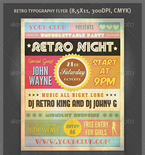 25 really awesome typography flyer psd templates web