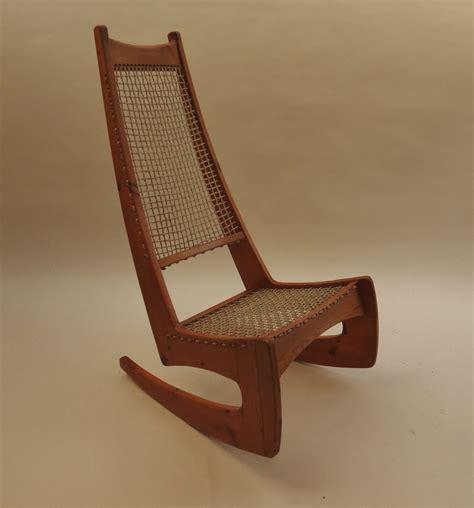 broun high back rocking chair decorative modern