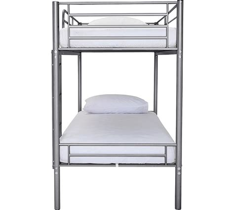 buy home samuel shorty bunk bed frame silver at argos co
