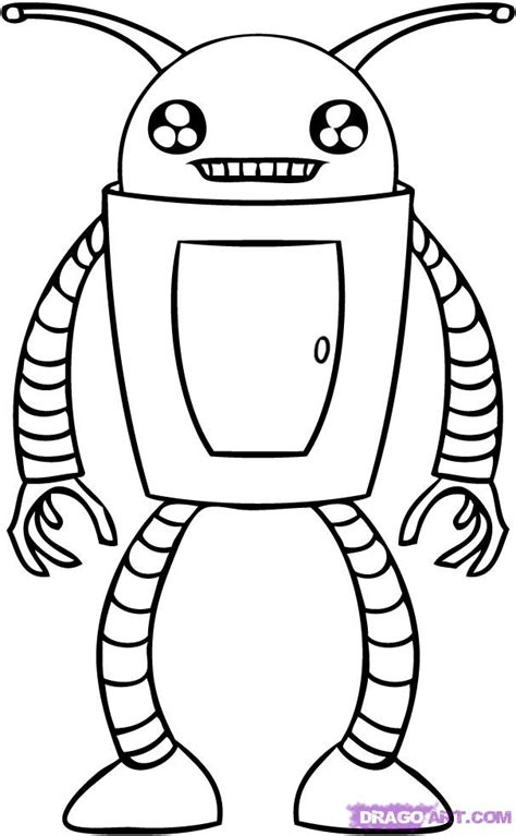 Drawing Robot by How To Draw A Robot Step By Step Robots Sci Fi