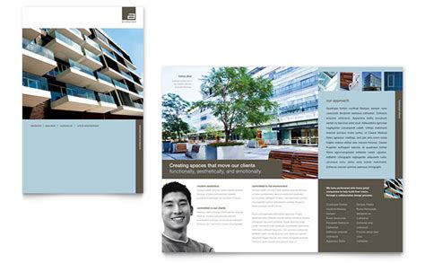 architectural design template architect brochure template design