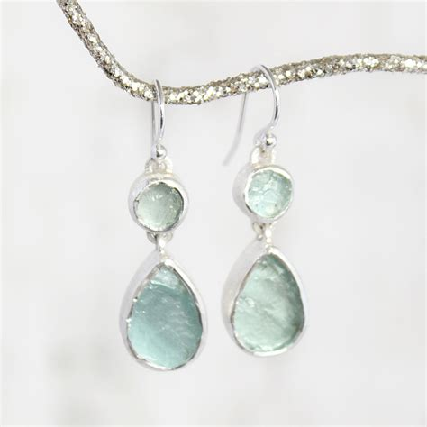 gemstone earring handmade designer aquamarine gemstone earrings