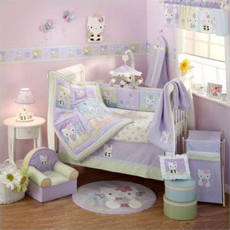 19 Sweet Hello Kitty Kids Room D 233 Cor Ideas Shelterness Green Nursery Decor
