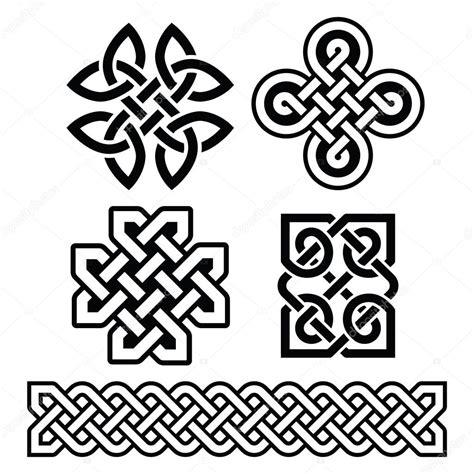 Keltische Muster Vorlagen Kostenlos Keltische Irische Muster Und Z 246 Pfe Vektor Stockvektor 93811370