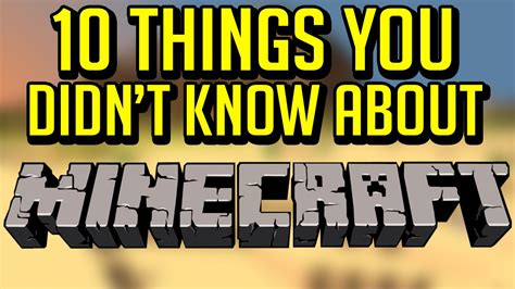 10 secret things you didn 10 things you didn t know about minecraft youtube