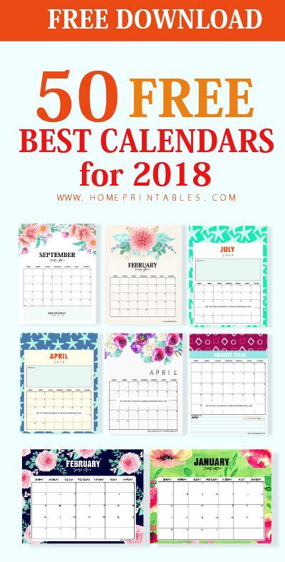 2018 calendar printable free template paper trail design top 50 printable calendar 2018 for free download home