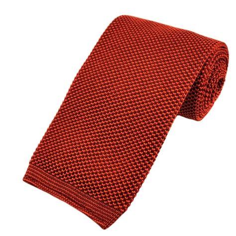 knitted silk ties uk tangerine orange premium knit silk tie from ties planet uk