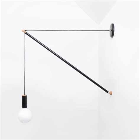 andrew neyer wall light pennant wall light by andrew neyer pl 3 blk