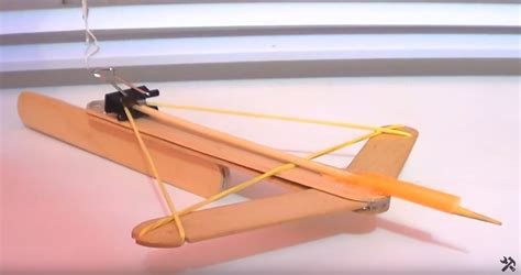 how to make a home made mini crossbow invent