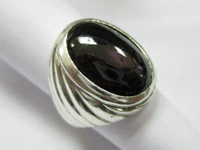 Batu Akik Kecubung Kopi Kode 7525 batu cincin hitam mengkilap terpilih net