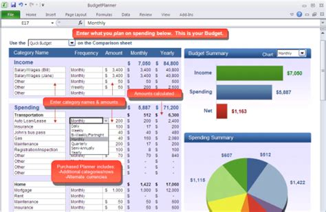 Best Household Budget Spreadsheet by 10 Free Household Budget Spreadsheets For 2018