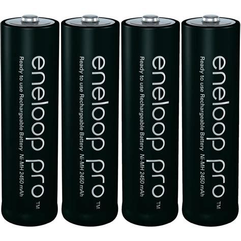 Bateray Eneloop Panasonic Aa Xx Black 4pc aa battery rechargeable nimh panasonic eneloop pro 245 from conrad