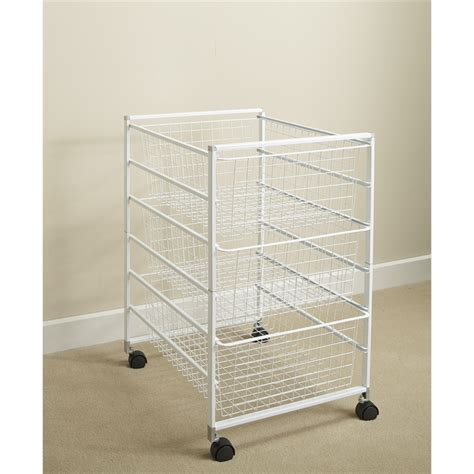 clever closet 6 runner basket kit white bunnings warehouse