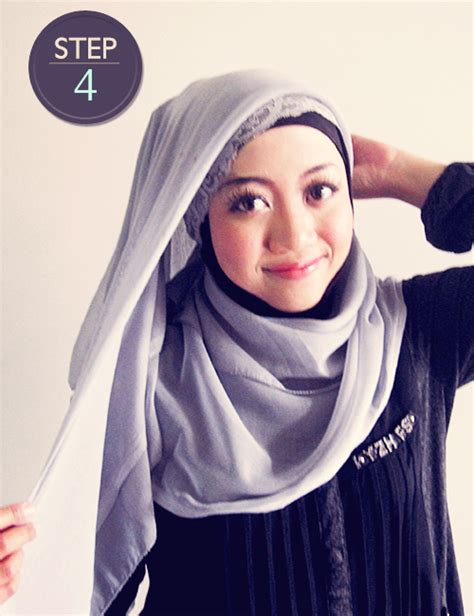 Jilbab Segi Empat Zoya tutorial jilbab segi empat modern
