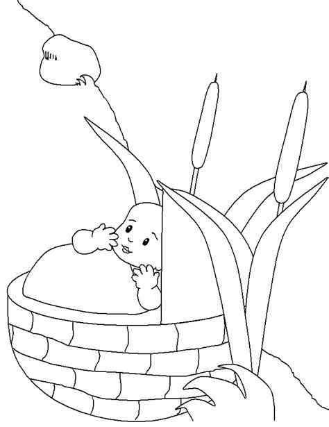 baby moses coloring pages coloring home