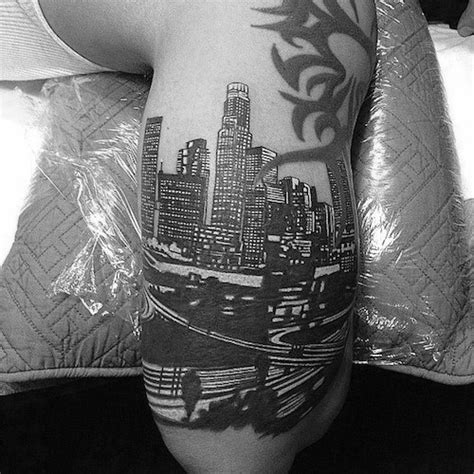 la skyline tattoo 30 los angeles skyline designs for southern
