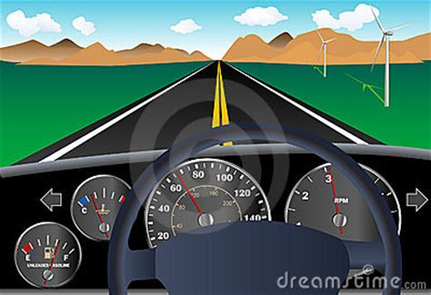 car dashboard  road royalty  stock images image
