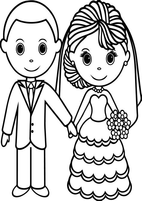 Wedding Couple Coloring Pages Wecoloringpage Coloring