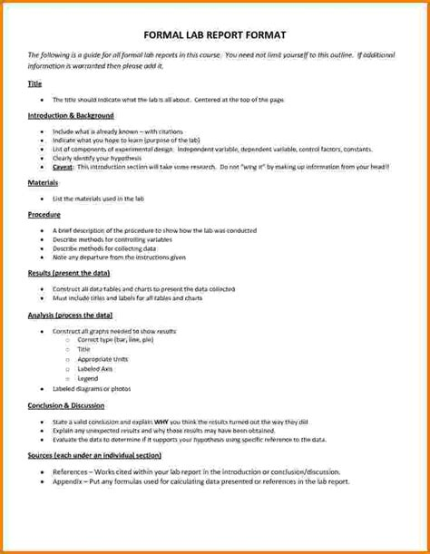 formal lab report template reportd24 web fc2