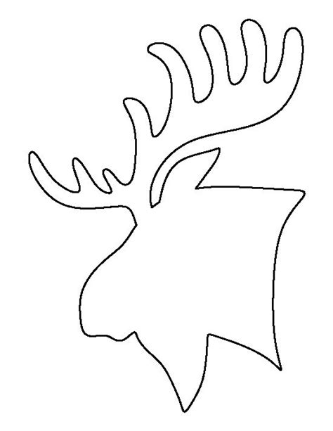 moose template moose outline www pixshark images galleries