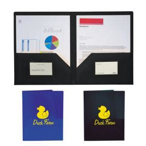 custom printed transparent  pocket folder  business