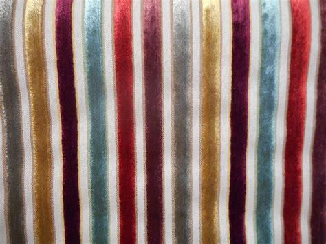 Velvet Stripe Upholstery Fabric by Belluti Striped Velvet Designer Upholstery Fabric Roll