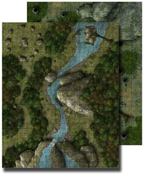 D D Mat by Paizo Gamemastery Flip Mat Forest