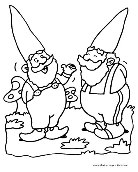 coloring page garden gnome dwarf color page coloring pages for kids fantasy