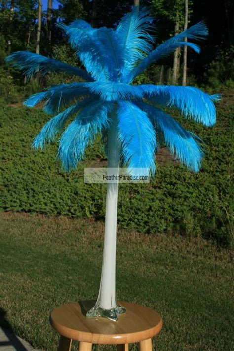 feather plume centerpieces feather plume palm tree wholesale discount cheap turquoise