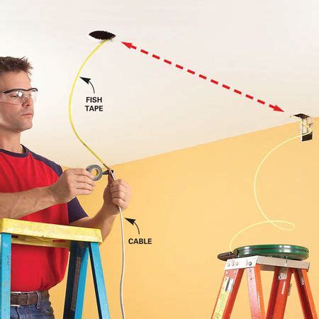 Running Speaker Wire In Ceiling by Fishing Electrical Wire Through Walls Wire And Fishing