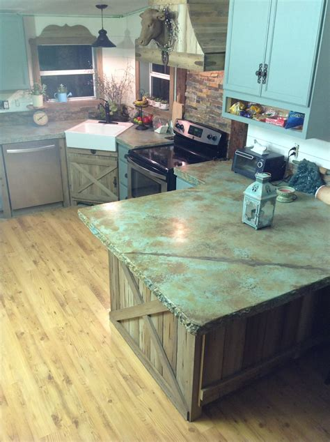 How To Do Cement Countertops by Indoor Outdoor Blue Concrete Countertop Designs Direct