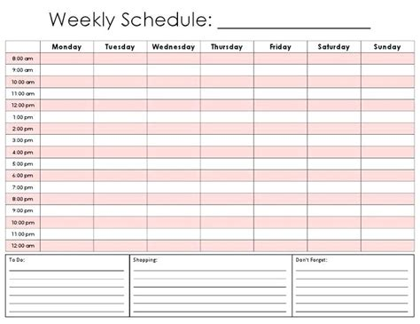 weekly work schedule template excel work schedule template weekly bi weekly work