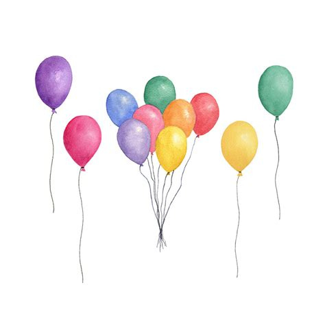 palloncini clipart balloon clipart watercolor pencil and in color balloon