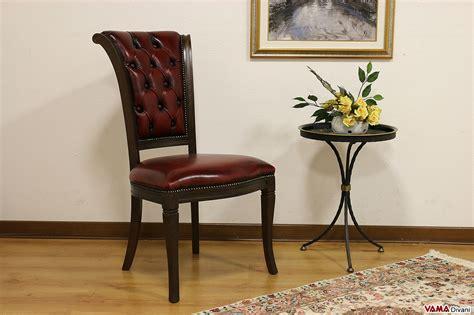 sedie classiche di lusso sedia classica con lavorazione capitonn 232 sullo schienale
