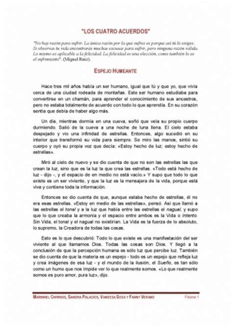 resumen 4 acuerdos documento resumen de los 4 acuerdos de miguel ruiz grupos emagister com