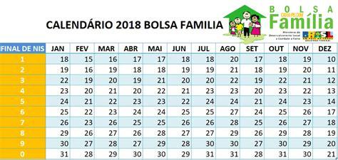 Calendario Cartao Bolsa Familia Calend 225 Do Bolsa Fam 237 Lia 2018 Bolsa Fam 205 Lia 2018