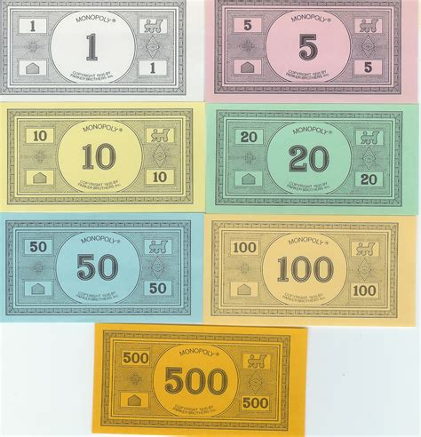 Indeed color reference time monopoly money