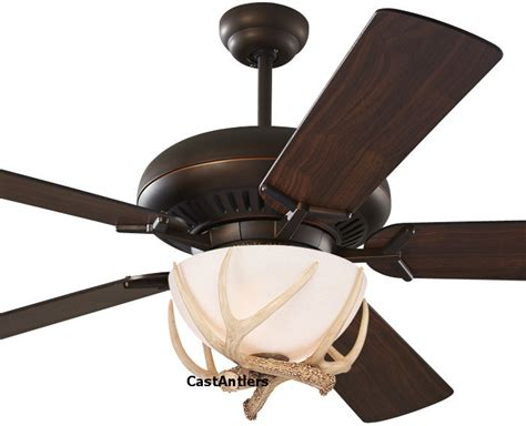 Antler Ceiling Fan With Light Standard Size Fans 60 Quot Antler Ceiling Fan Rustic Lighting And Decor From Castantlers