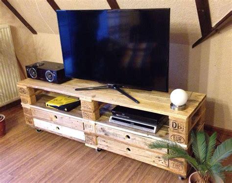 sideboard tv regal aus aufbereiteten europaletten mit