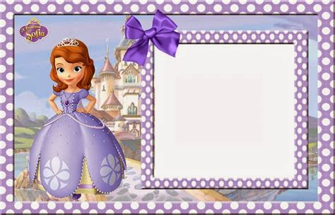 sofia the birthday invitation card template free sofia the free printable invitations cards or photo