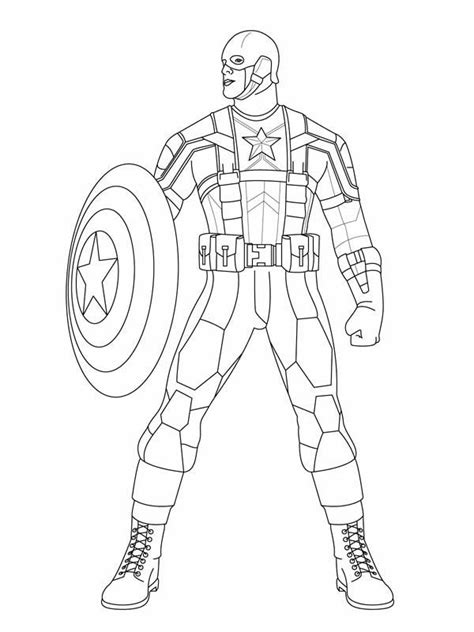 marvel coloring pages captain america marvel heroes captain america coloring page coloring