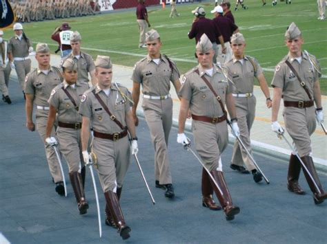 texas a m corps of cadets march in downtown fort worth september