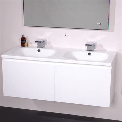 barcelona white 1200 vanity unit