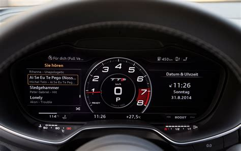 audi dynamic mode 2016 audi tts the cockpit in dynamic mode on the