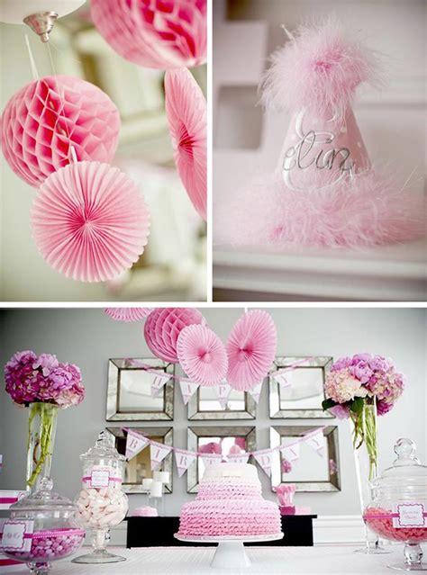 95 1st birthday party decoration ideas for girls at home birthday pretty in pink birthday party with really cute ideas via