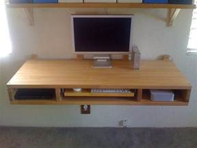 Diy Wall Desk Diy Project Make Your Own Floating Computer Desk Using Countertops Apartment Therapy