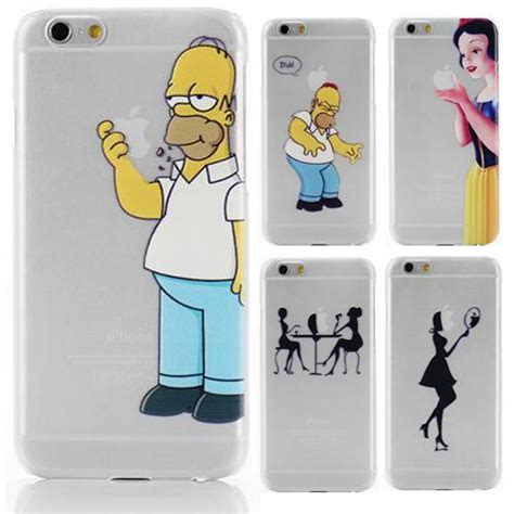 Homer Nike Iphone 5 5s 5c 6 6s 7 Plus clear plastic back for iphone6 iphone 6
