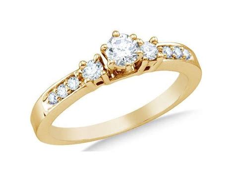14k yellow gold classic traditional engagement