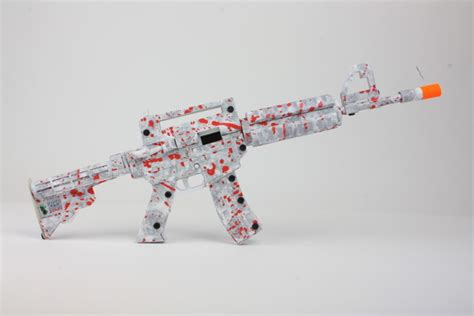 How To Make A Pistol Out Of Paper - paper shooters assault rifle prototype made out of