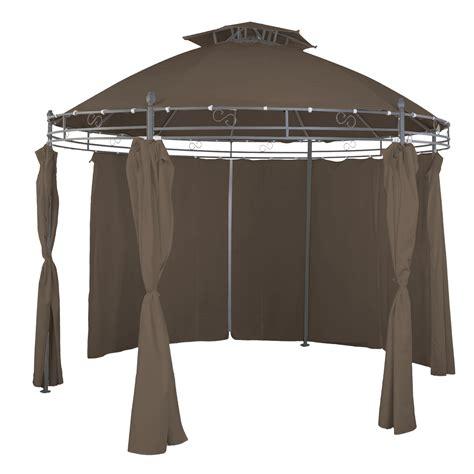 gartenpavillon mit seitenteilen garten pavillon mit seitenteilen rund taupe 216 350cm garten